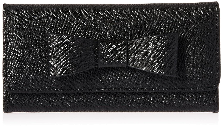 Royce Leather RFID Blocking Large Bow Wallet in Saffiano Leather DBA Royce Leather RFID-165-BLK-2 Black EMPORIUM LEATHER