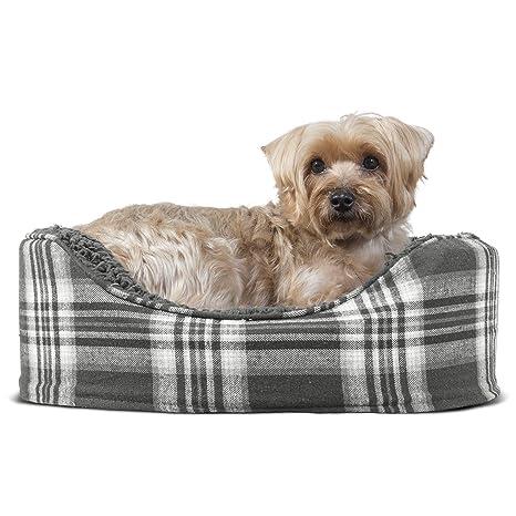 Amazon.com: Cama ovalada para perro o gato Furhaven, S, Gris ...