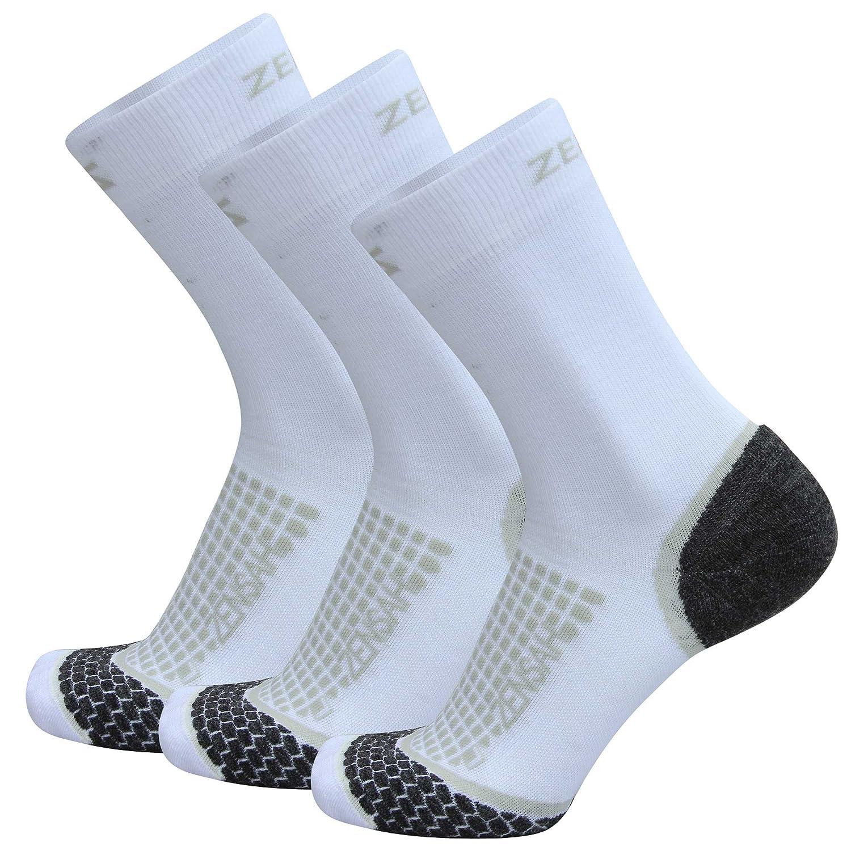 希少 黒入荷! ZensahクルーウールRunning Socks – Trail Sock Trail、グリットクルーソックス B0737FNWTN Socks White 3 - 3 Pack Large Large|White - 3 Pack, モンヴェール農山:0cc30723 --- martinemoeykens.com