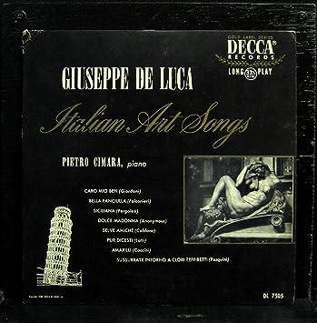 Amazon.com: Giuseppe De Luca Italian Art Songs vinyl record ...