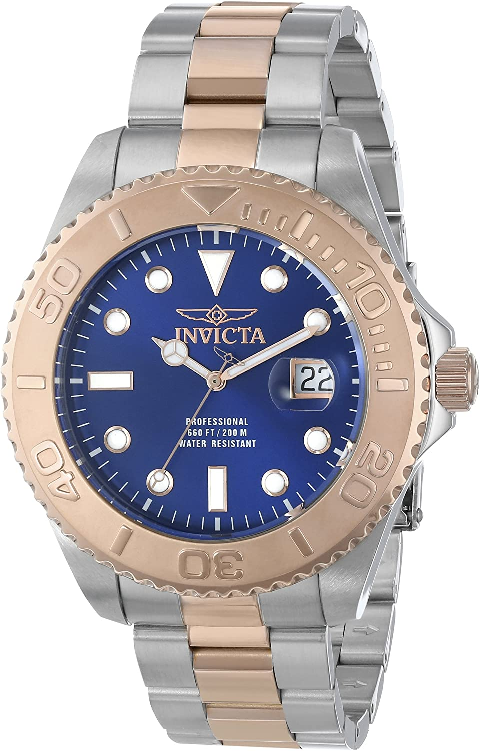 Invicta Men s 15189SYB Pro Diver Swiss Quartz Two-Tone Watch with Impact Case