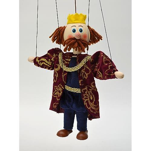 Moravská ústredna 18114A King 20cm, Marionett marionnettes, Multicolore