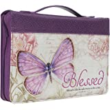 Bible Cover Butterfly Blessed Purple Jeremiah 17: 7 Medium