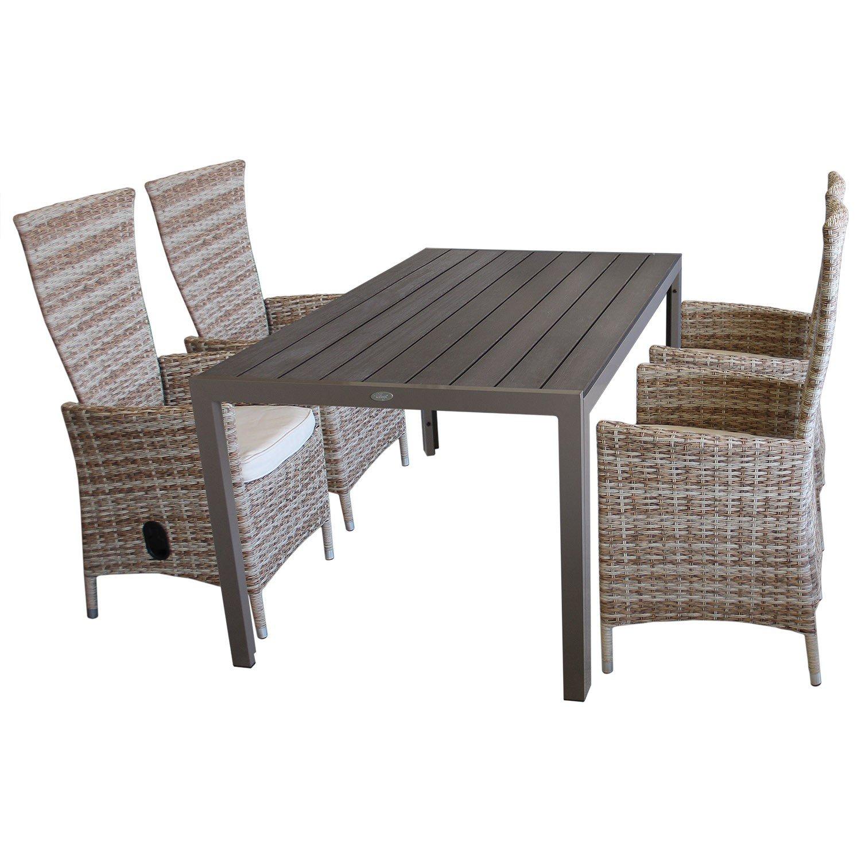 5tlg Sitzgruppe Sitzgarnitur Gartenmöbel Terrassenmöbel Set