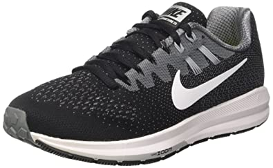 3ad584426a708 Nike Womens Air Zoom Structure 20 Black White Cool Grey Running Shoe 5.5  Women