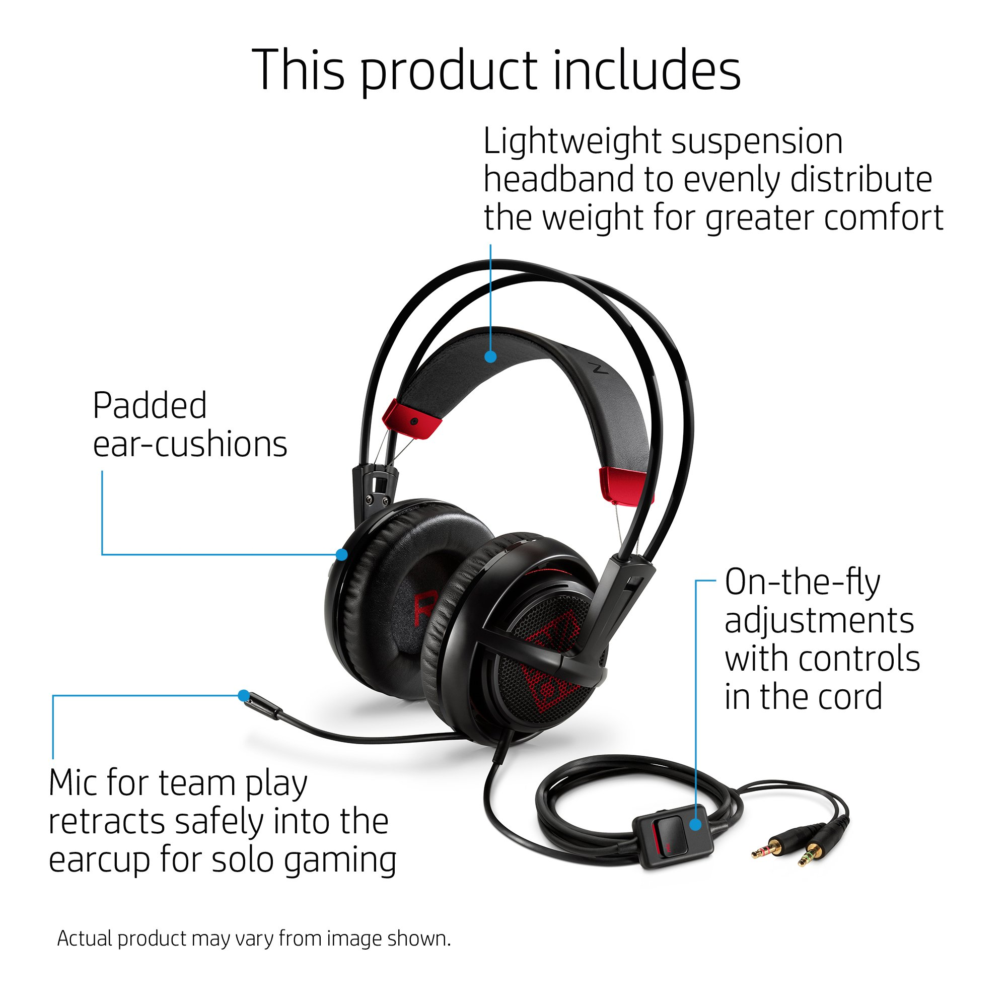 OMEN by HP Wired Gaming Headset with SteelSeries (Black) by HP (Image #2)