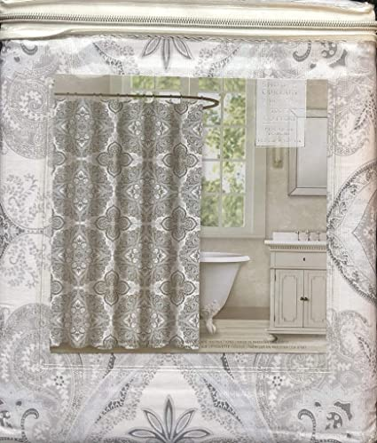 Amazon ENVOGUE Fabric Shower Curtain 72 X Medallion