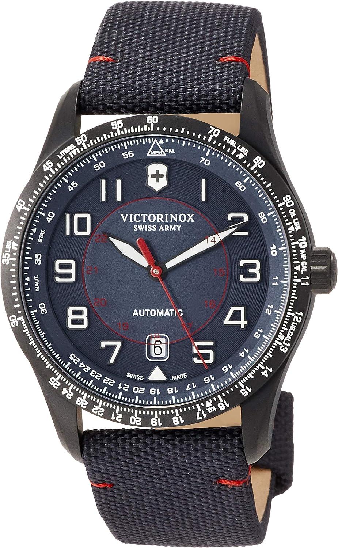Victorinox Hombre Airboss Mechanical Reloj automático de fabricación Suiza - Negro/Azul Marino 241820