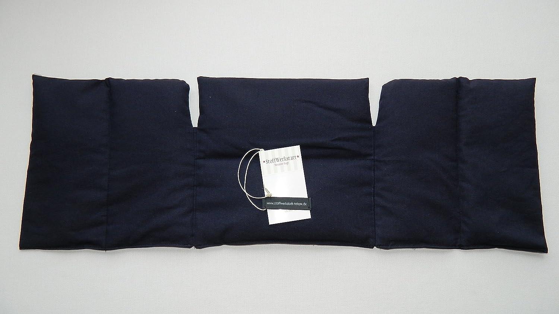 3 in 1 W/ärmekissen Dinkelkissen K/örnerkissen uni blau