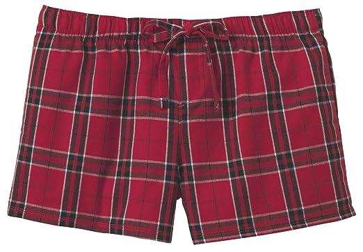 Ladies Soft & Cozy Plaid Flannel Pajama Boxer Shorts . Juniors ...