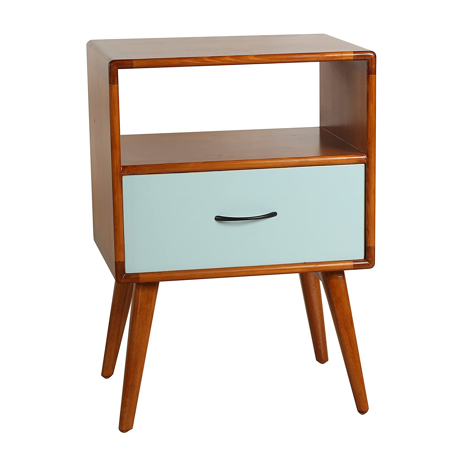 Amazon.com: Porthos Home Andrew Mid-Century Side Table, Natural ...