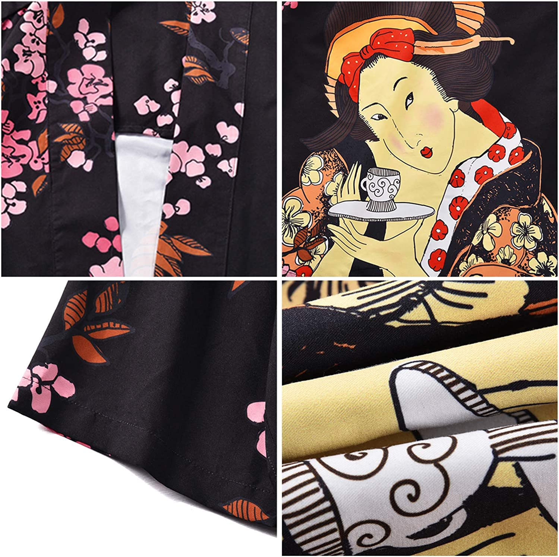 PIZOFF Kimono Samurai unisex con impresi/ón 3D.