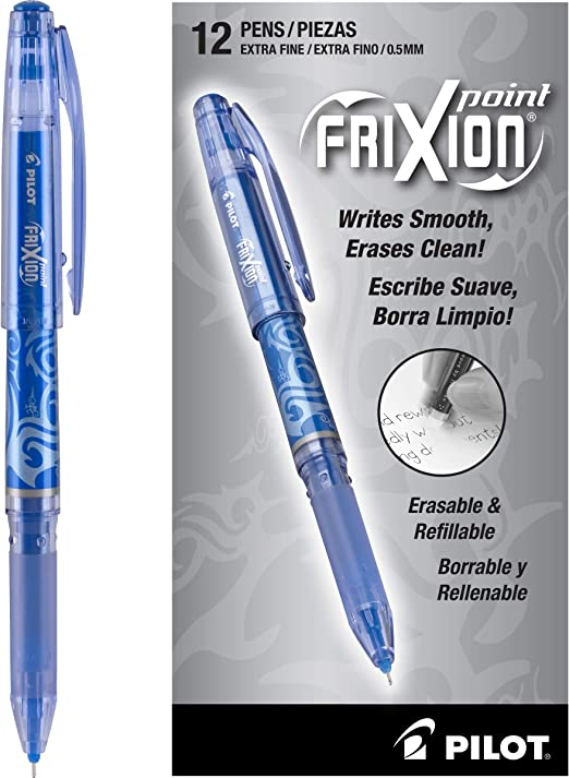 Pilot FriXion Point Erasable Gel Pens Extra Fine Point Assorted Ink 324192