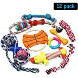 PEHOST Dog Rope Toys Animal Design Squeak Toys for Puppy Pet Play Chew And Training