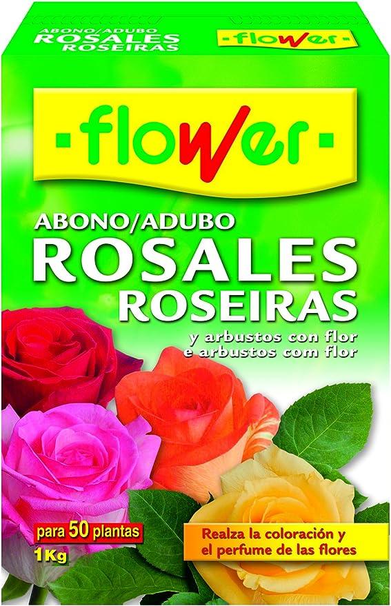 Flower 10520 10520-Abono Rosales, 1 kg, No Aplica, 7x18x25.5 cm: Amazon.es: Jardín