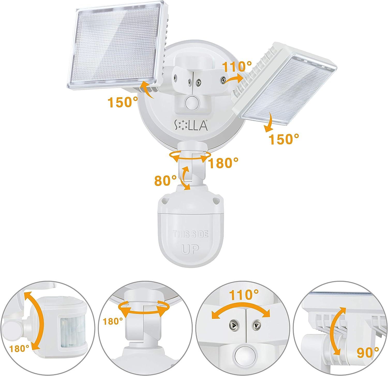 34W Outdoor Motion Sensor Light Waterproof IP65 Floodlight for Garage Garden Deck Porch Driveway SOLLA LED Security Light 3000lm 5000K Daylight White