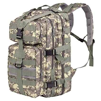 Vbiger Táctica Militar Mochila Impermeable CS Camuflaje Bolsa Expansible al Aire Libre Mochila para la Caza