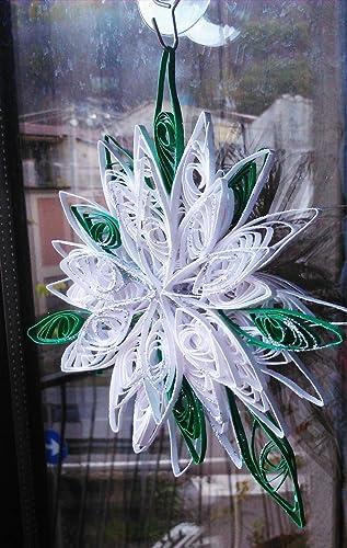 Decorazioni Natalizie Quilling.Decorazioni Natalizie Per Finestre Stella Di Natale Arte Quilling