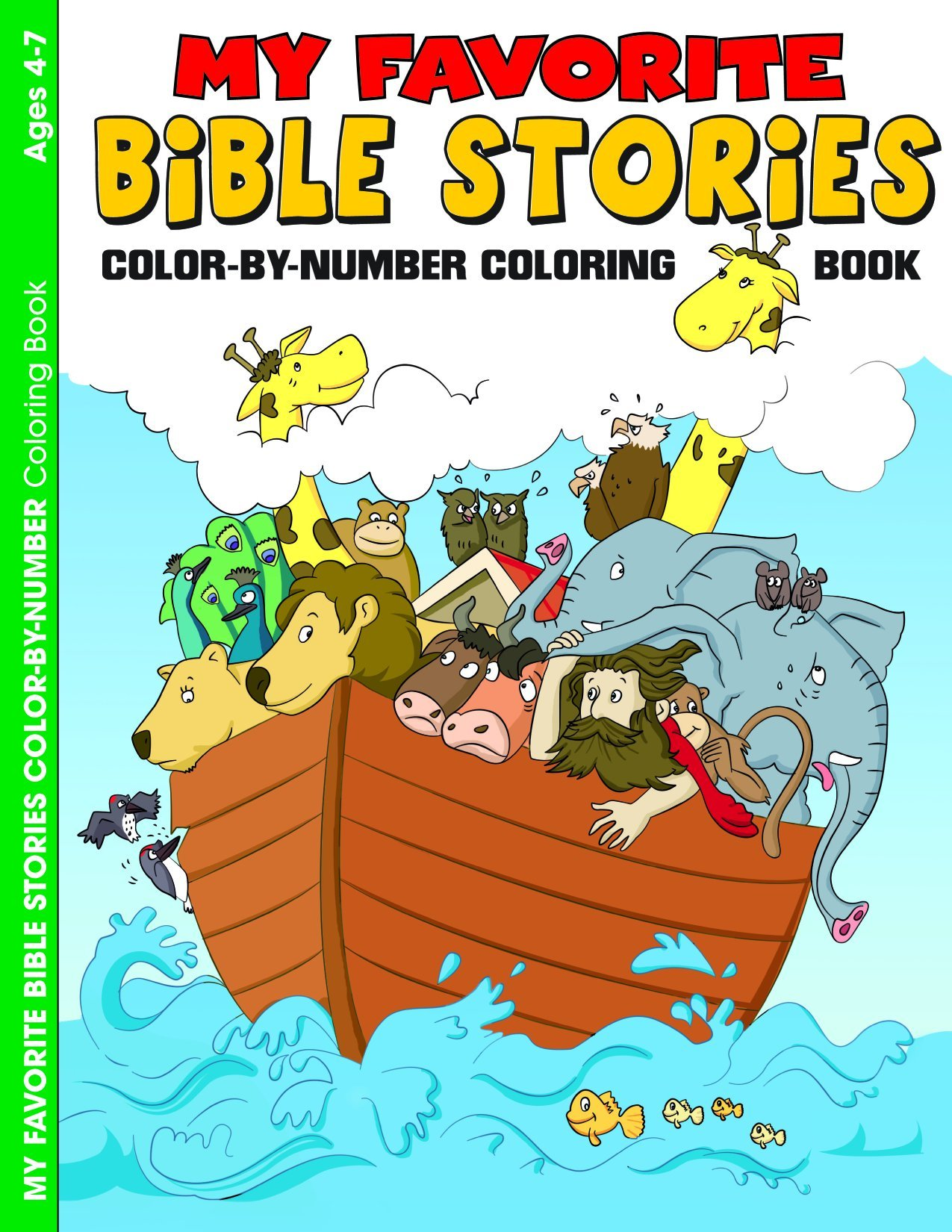 My Favorite Bible Stories: Color-by-Number Coloring Book ...