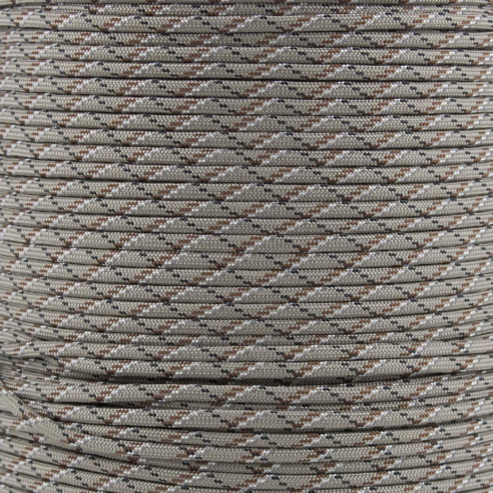 Reflective Type III 550 Paracord - 7 Strand Core - 100% Nylon, Parachute Cord, Commercial Paracord, Survival Cord (10 Feet, Desert Camo with Reflective Tracers) by PARACORD PLANET (Image #1)