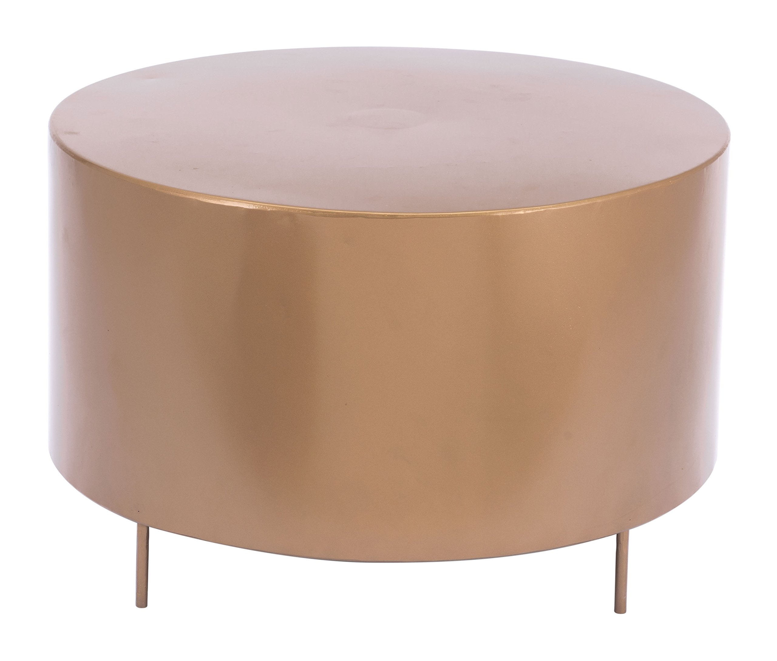 Zuo A11543 Coffee Table Gold - Overall Dimensions: 23.6W X 23.6D X 15.4H Frame construction: Steel Finish: Gold - living-room-furniture, living-room, coffee-tables - 81RFnARayoL -