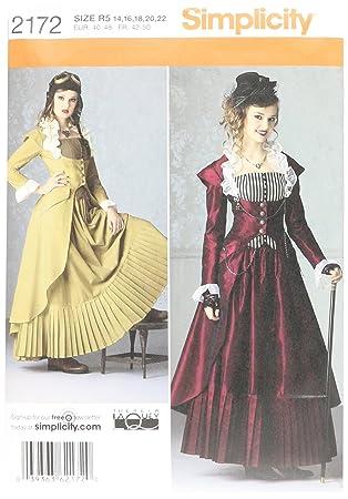 Simplicity R5 14–16–18–20–22 Schnittmuster 2172 Kostüm: Amazon.de ...