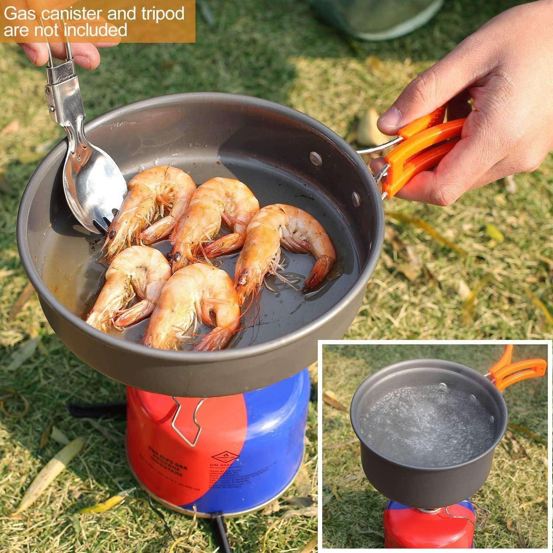 Ahsado Utensilios Cocina Camping Kit con Estufa Trekking