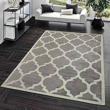 Amazon.de: TT Home Kurzflor Teppich Modern Marokkanisches Design ...