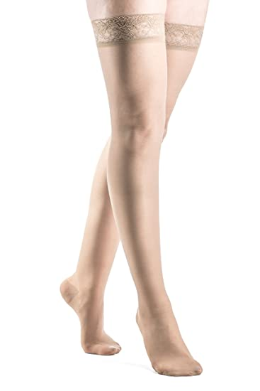 376addac9b8 Image Unavailable. Image not available for. Color  SIGVARIS Women s SHEER  FASHION 120 Thigh High Compression Hose ...