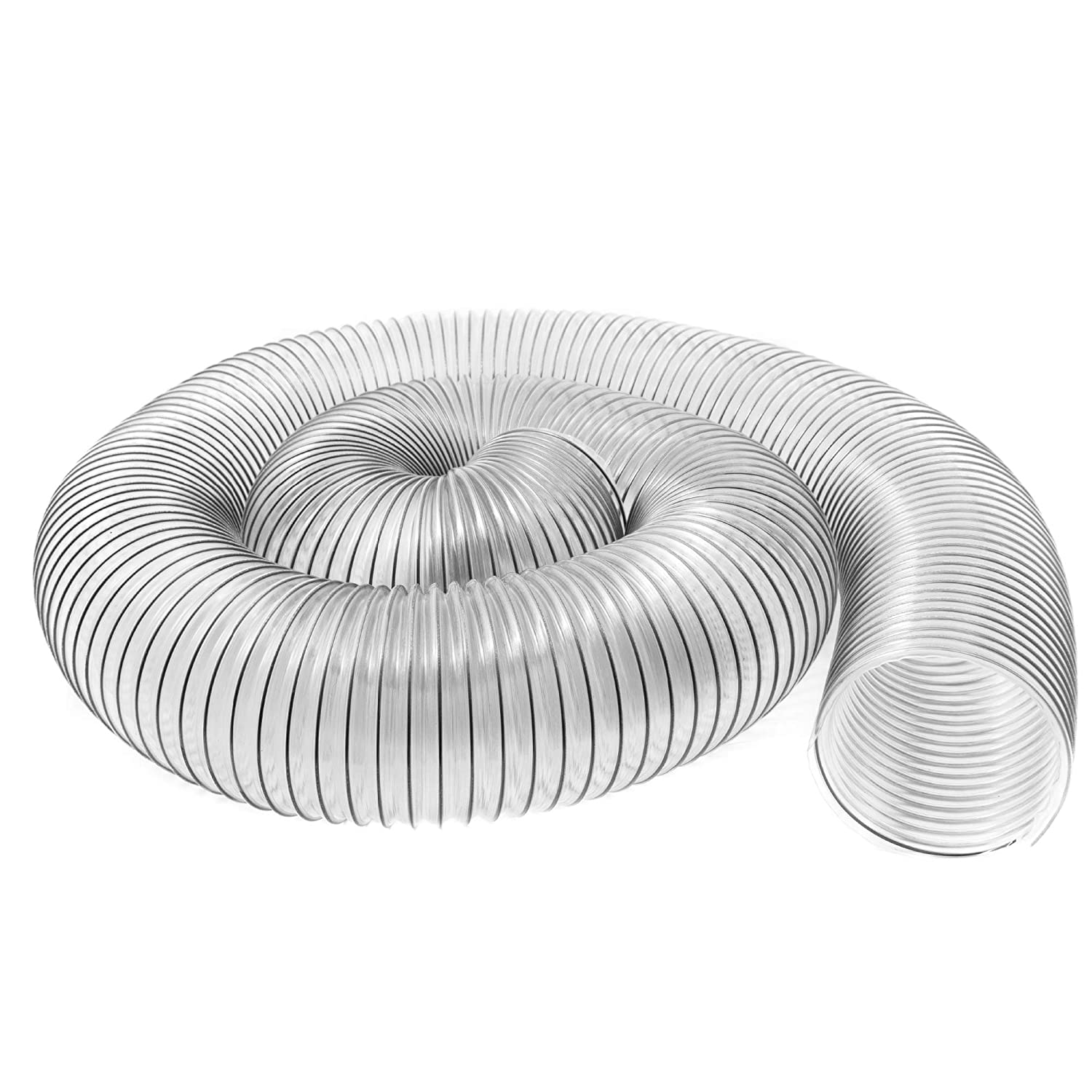 "6"" x 10' (6 inch diameter by 10 feet long) Ultra-Flex Clear Vue Heavy Duty PVC Dust, Debris and Fume Collection Hose - MADE IN USA!"