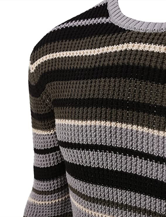 5f1c9f6311c Rue 21 Carbon Stripe Cable Knit Sweater at Amazon Men s Clothing store