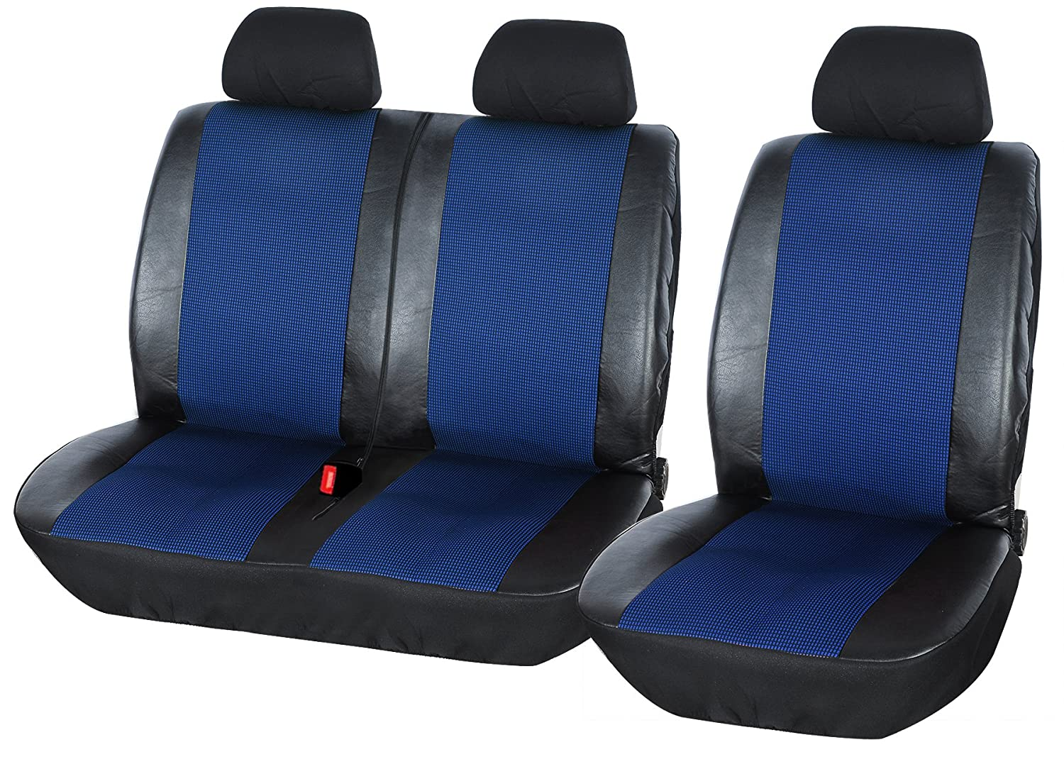 WOLTU AS7325 2+1 Van Truck Lorry Car Seat Covers protectors in Balck and Blue