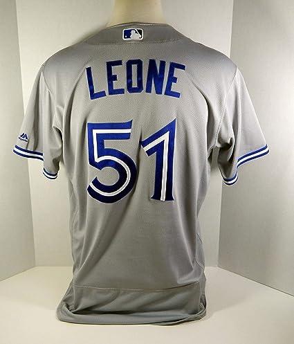 new concept 91399 c1088 2017 Toronto Blue Jays Dominic Leone #51 Game Used Grey ...