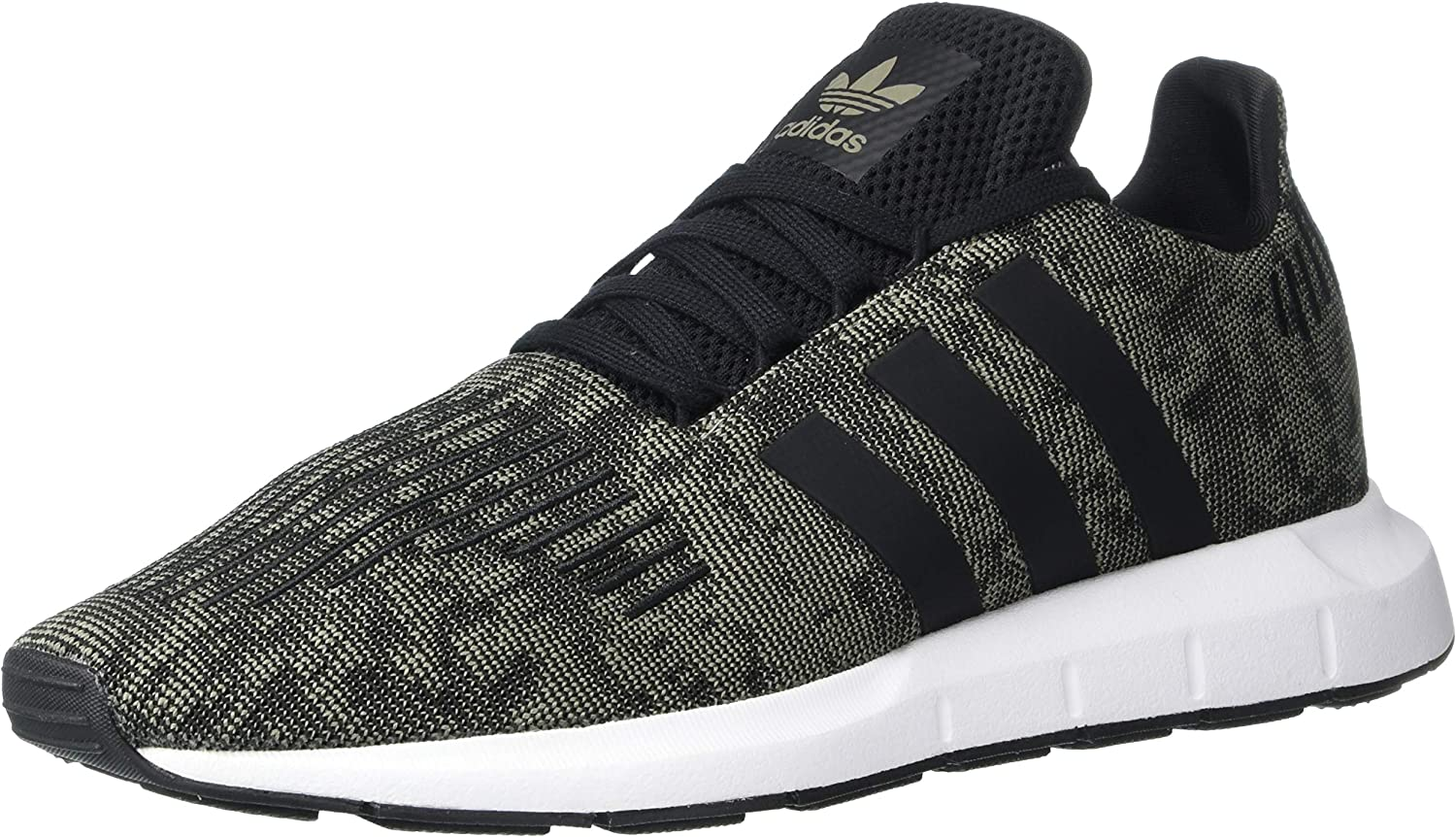 adidas Originals Men s Swift Running Shoe, Trace Cargo Black White, 8 M US