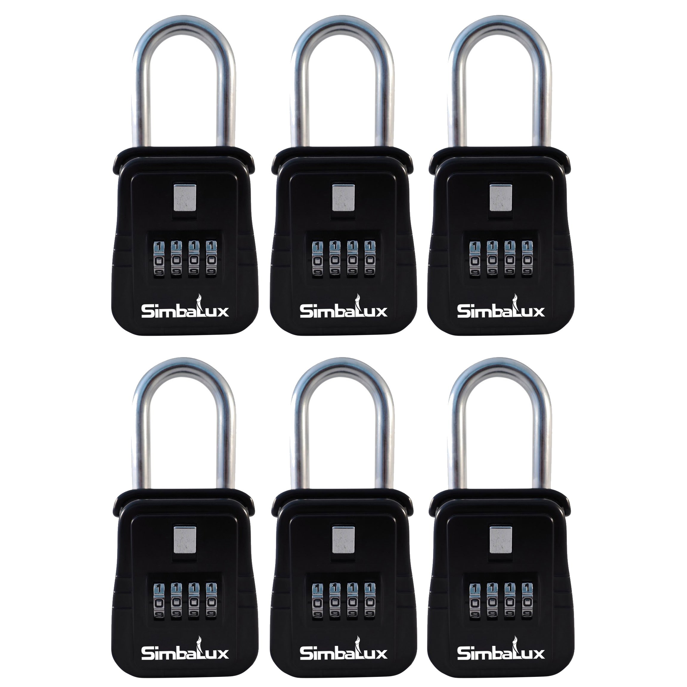 [6 Pack] Quality Realtor Combo Lockbox by SimbaLux 4 Digit Numeric Combination Real Estate Lock Box