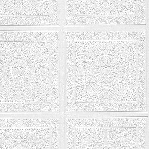 Textured tile - Textured wallpaper on ceiling ...