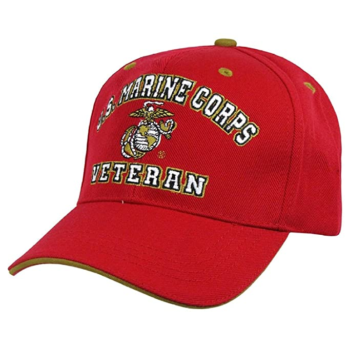 a6316300095 Image Unavailable. Image not available for. Color  US Marine Corps Veteran Embroidered  Baseball Cap Hat