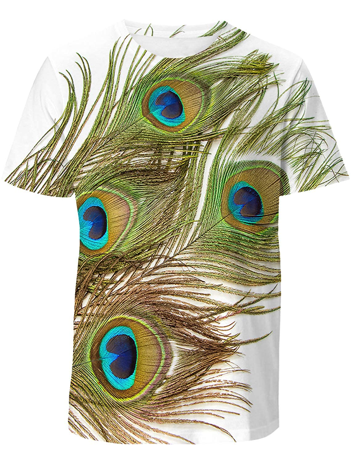 EZON-CH Mens Short-Sleeve Crewneck T-Shirt,Assorted Fashion 3D Printing Male Blouse Tee Tops,Sweet Cake for Youth,