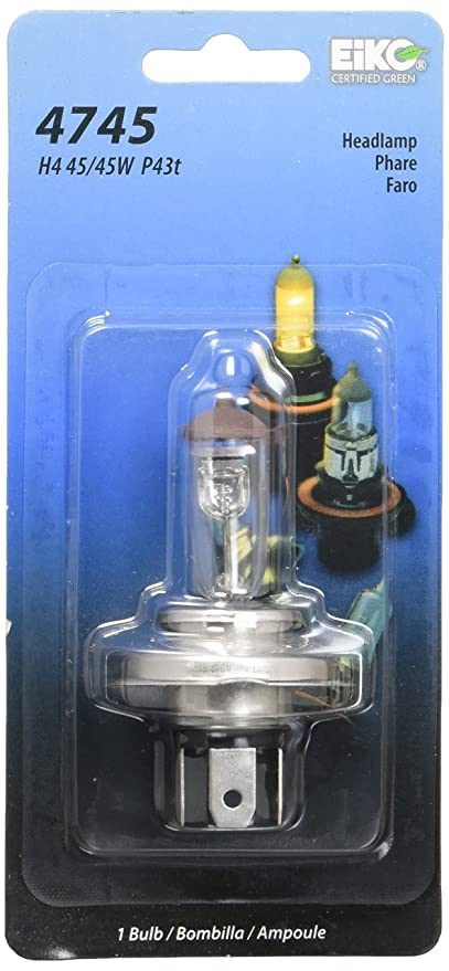 Eiko 4745-BP 12V 45/45W H4 T-5 P43T Base (1 Bp), - Automotive General Purpose Light Bulbs - Amazon.com