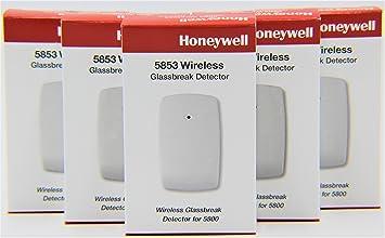 Amazon.com : 5 Pack of Honeywell 5853 Wireless Glassbreak ...
