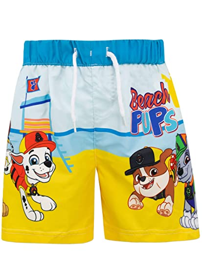 da7db3e93d552 Paw Patrol Boys' Chase and Marshall Swim Shorts: Amazon.ca: Clothing ...