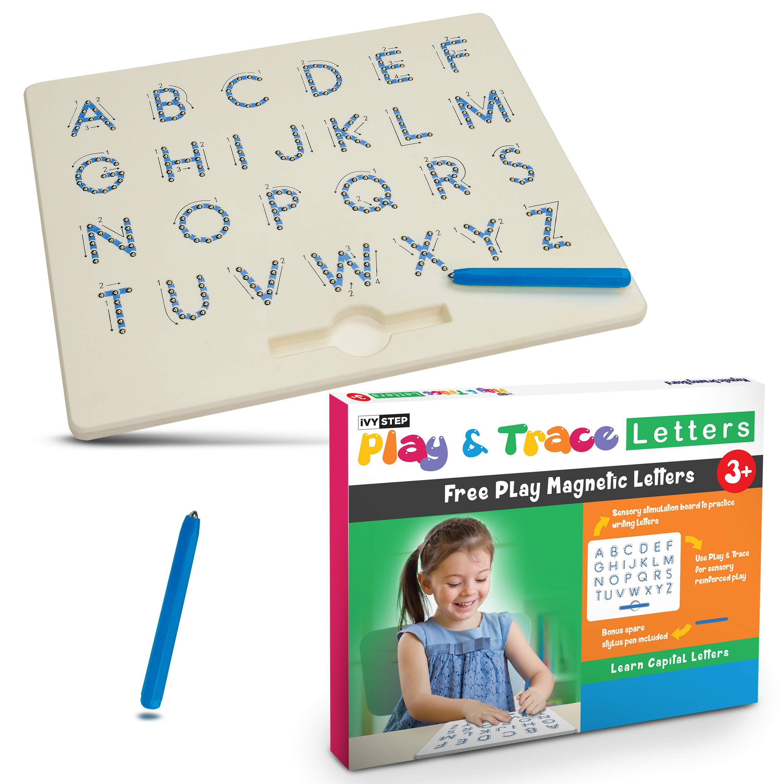 Ivy Step Magnetic Alphabet Letter Tracing Board with Two Stylus Pens
