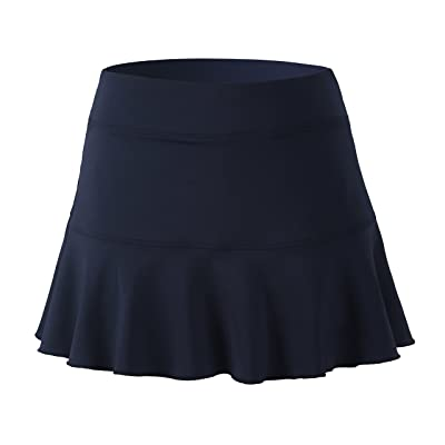 32e-SANERYI Women's Pleated Elastic Quick-Drying Tennis Skirt with Shorts Running Skort