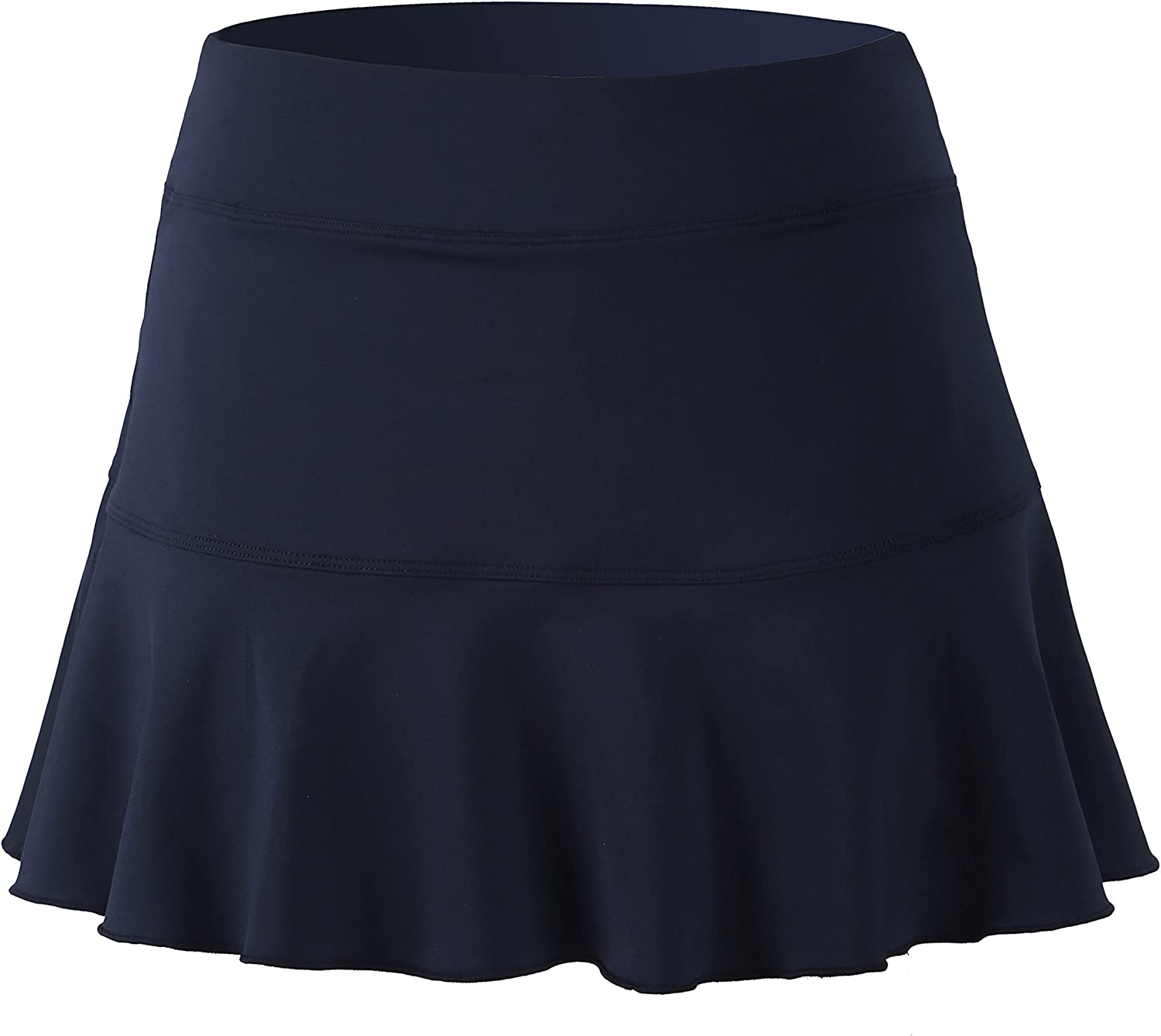 1 by 1 Tennis Skirt Womens Pleated Elastic Quick-Drying Running Tennis Skort Sport Skirt with Shorts
