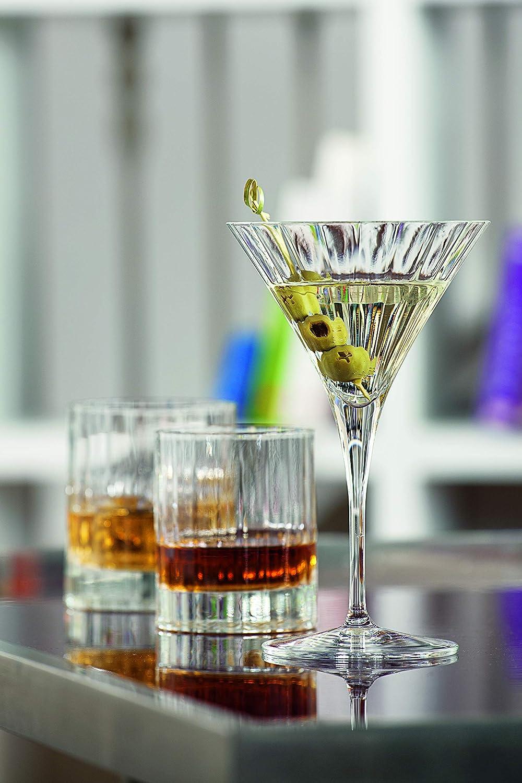 7,5x7,5x9 cm Luigi Bormioli 7540470 Bo/îte de 6 Chopes Forme Basse Cristal Transparent
