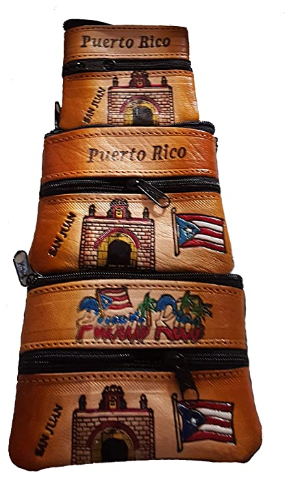 Amazon.com: Monedero de piel para garita de Puerto Rico: Shoes