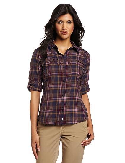 Long Womens Plaid Size Plus Sleeve Ridge Columbia Shirt Silver fZpYpx