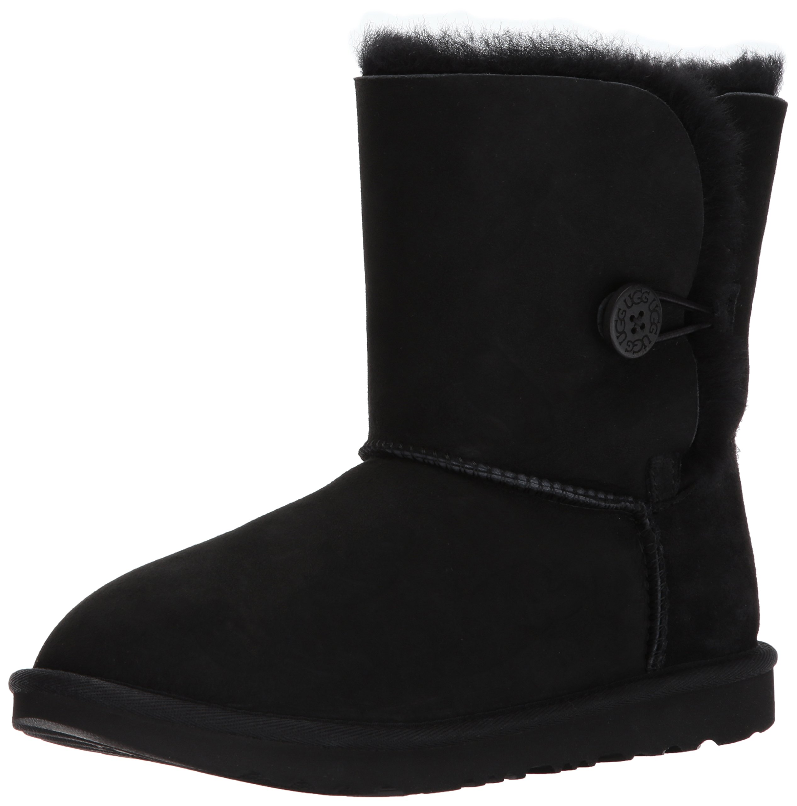 UGG Girls K Bailey Button II Fashion Boot, Black, 2 M US Little Kid