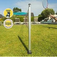 GARD & ROCK - KIT POTEAUX MULTISPORTS Télescopiques en aluminium - Quick Fixation System - Badminton, Tennis, Tennis-Ballon, Aqua Volley, Volley-Ball