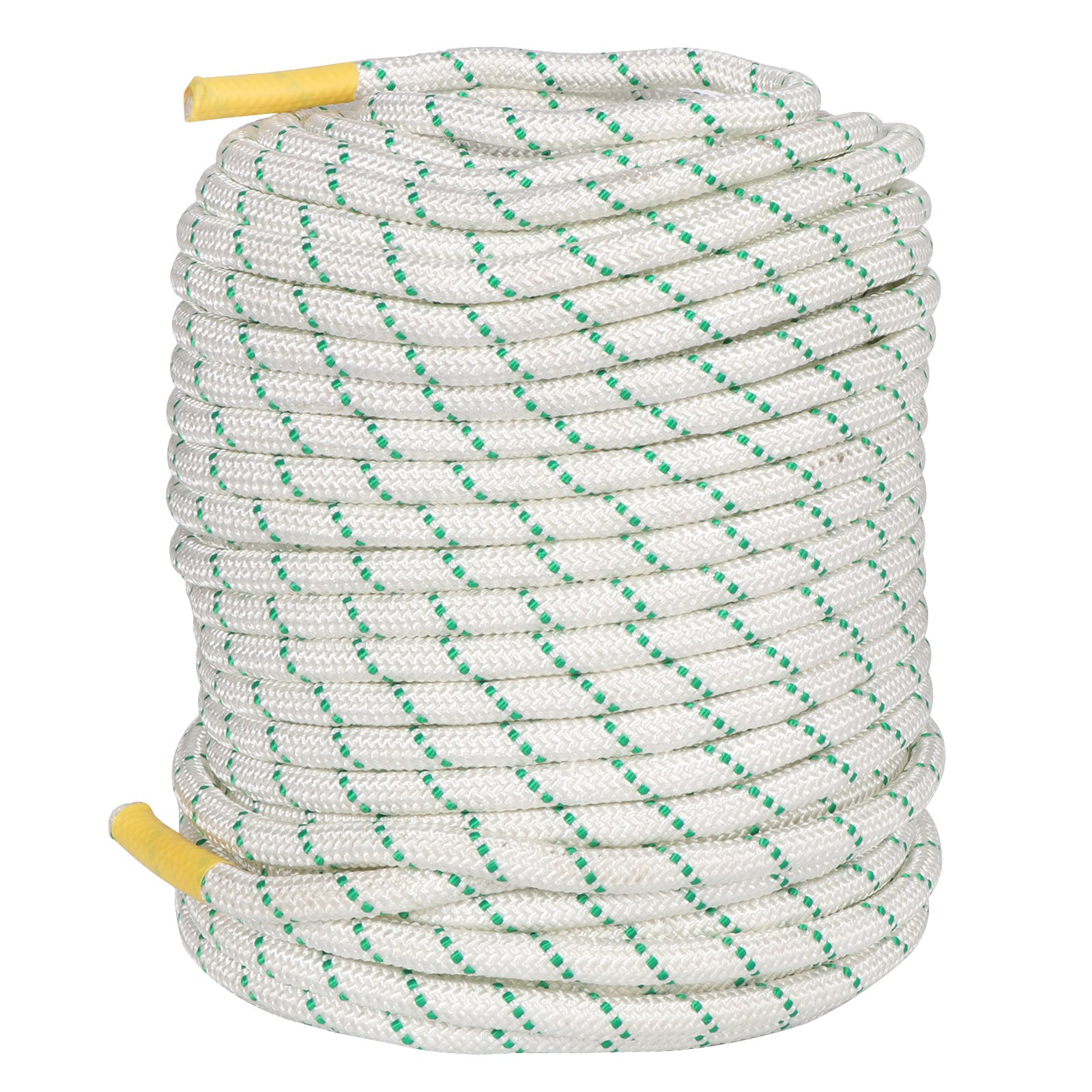 F2C General Purpose 2/5Inch x 151FT Caving Climbing Rope Double Braid Polyester Rope Safety Rope, Perfect for Tree Work, Cargo, Sailing, Rigging, Marine, Outdoor Sports, 5940Lbs Breaking Strength